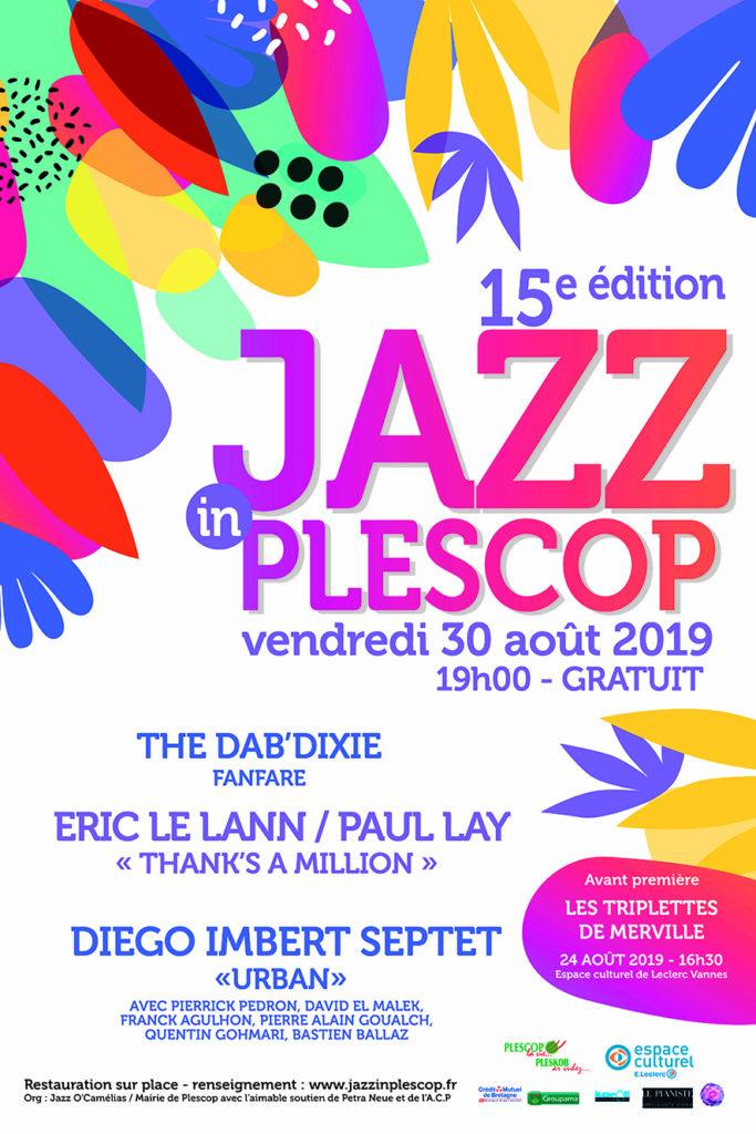 Affiche de l'édition 2019 de Jazz In Plescop