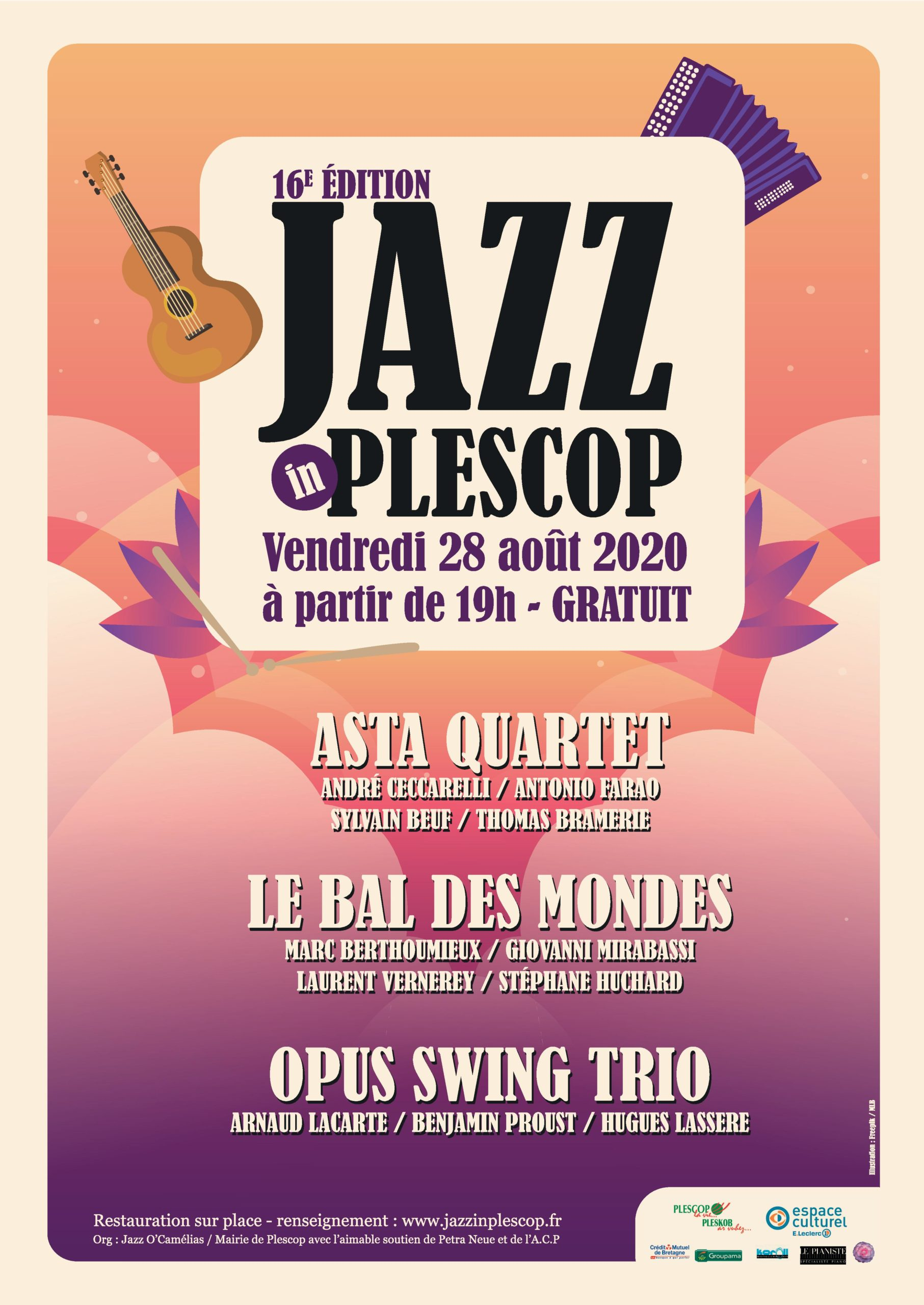 Affiche de l'édition 2020 de Jazz In Plescop